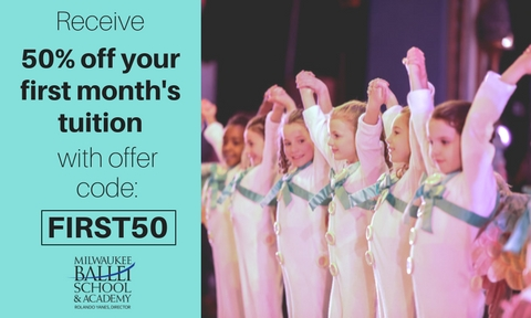50% Off Your First Month at Milwaukee Ballet School & Academy