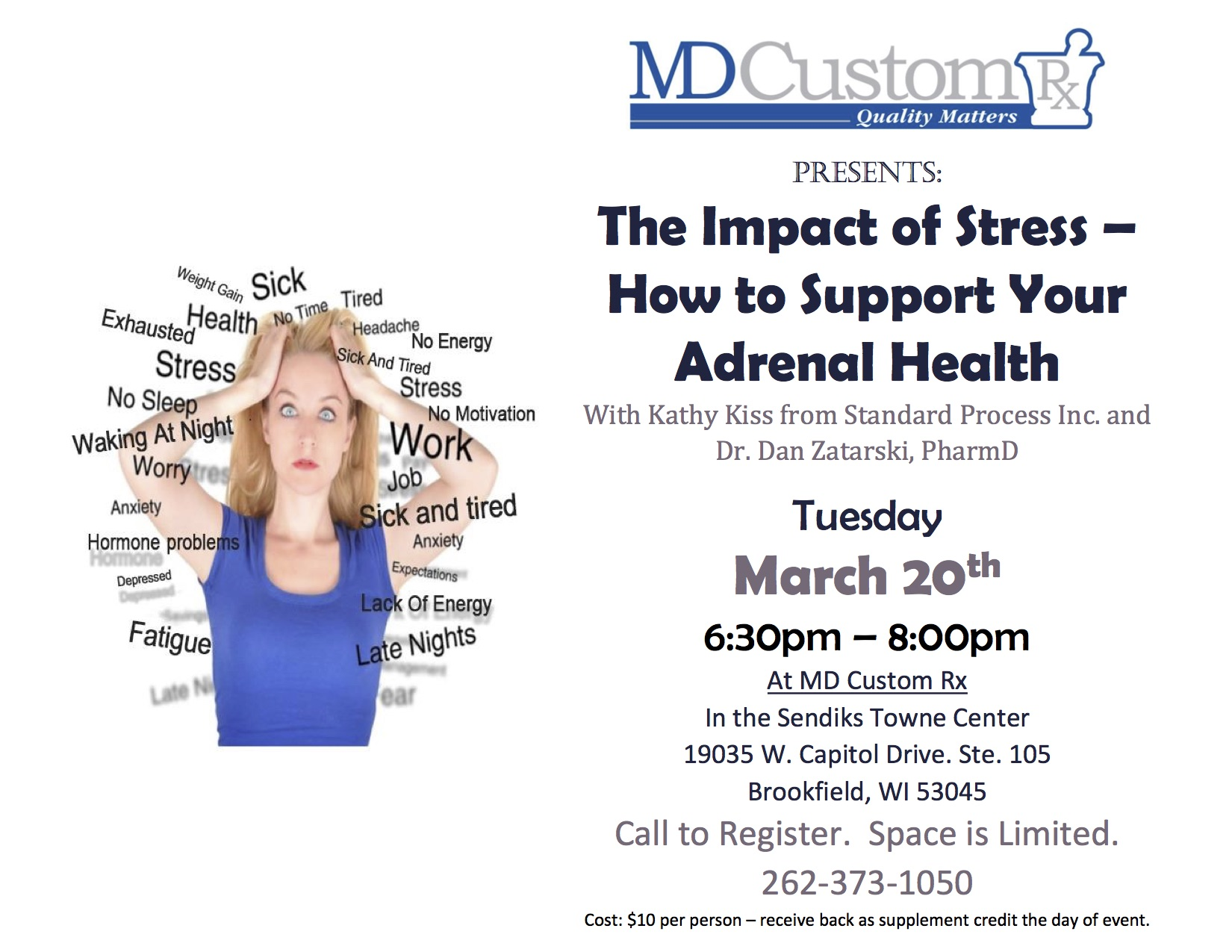 The Impact of Stress – How to Support Your Adrenal Health With Kathy Kiss from Standard Process Inc. and Dr. Dan Zatarski, PharmD