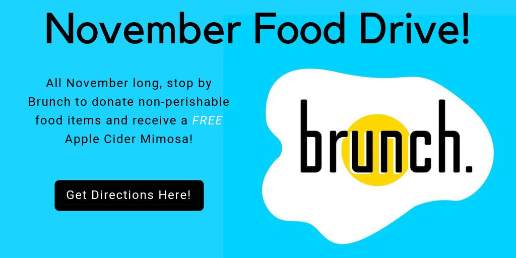 Food Drive at Brunch Brookfield