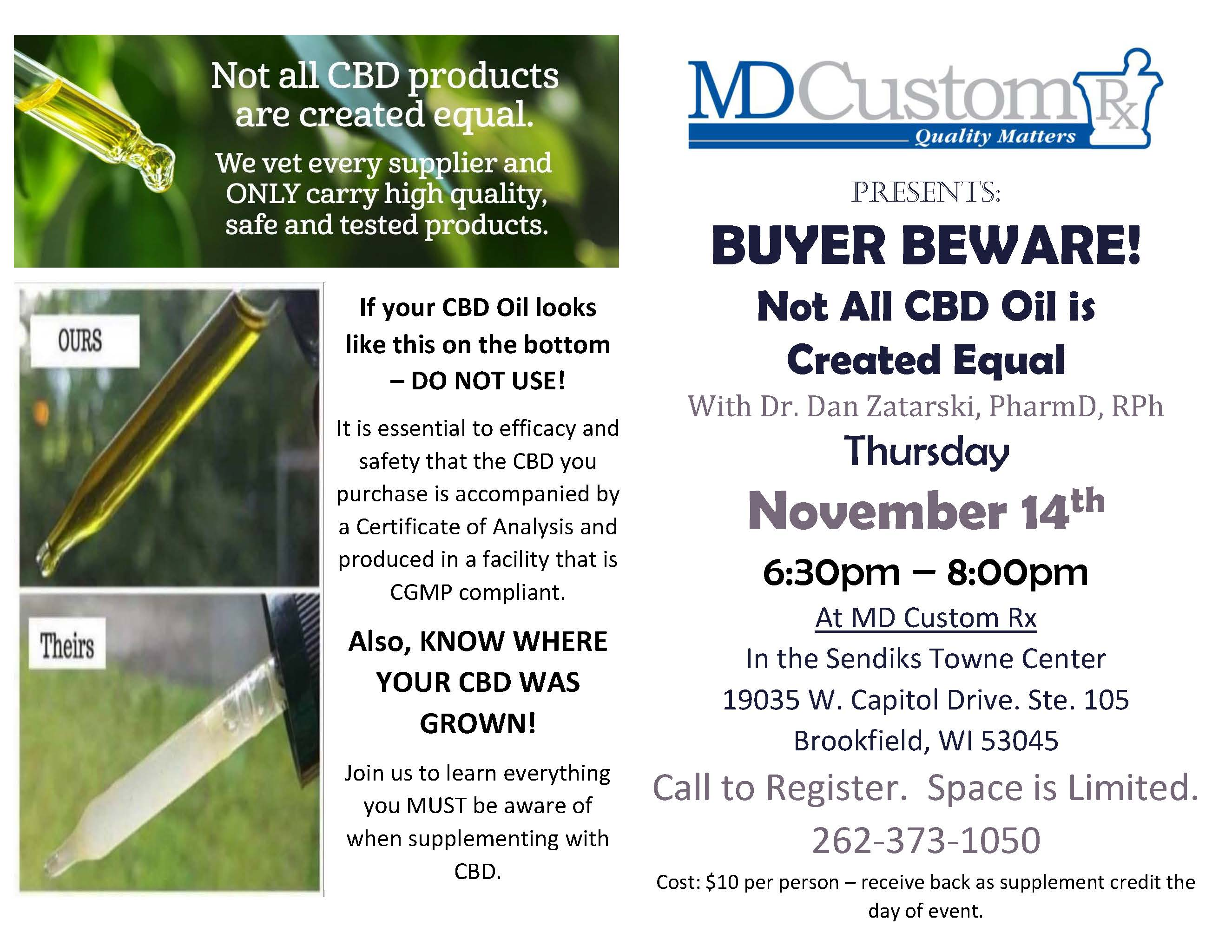BUYER BEWARE - Not All CBD Oil is Created Equal