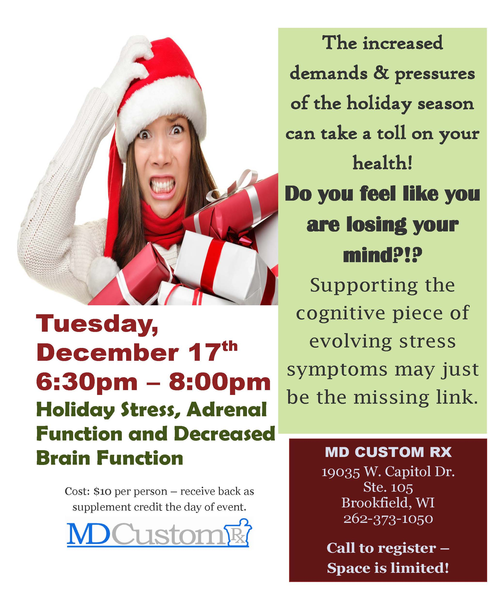 Holiday Stress, Adrenal Function and Decreased Brain Function